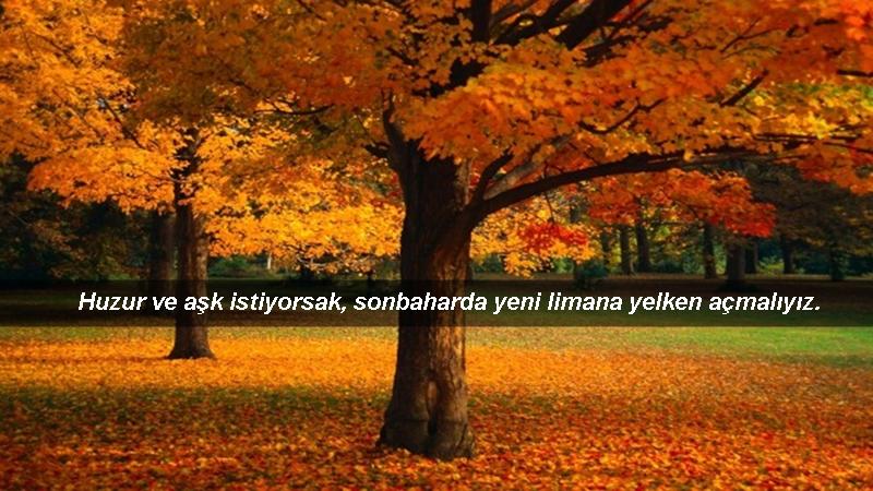 huzur ve aşk istiyorsak - Sonbahar İle İlgili Sözler - Resimli Sonbahar Sözleri, resimli-sozler, guzel-sozler