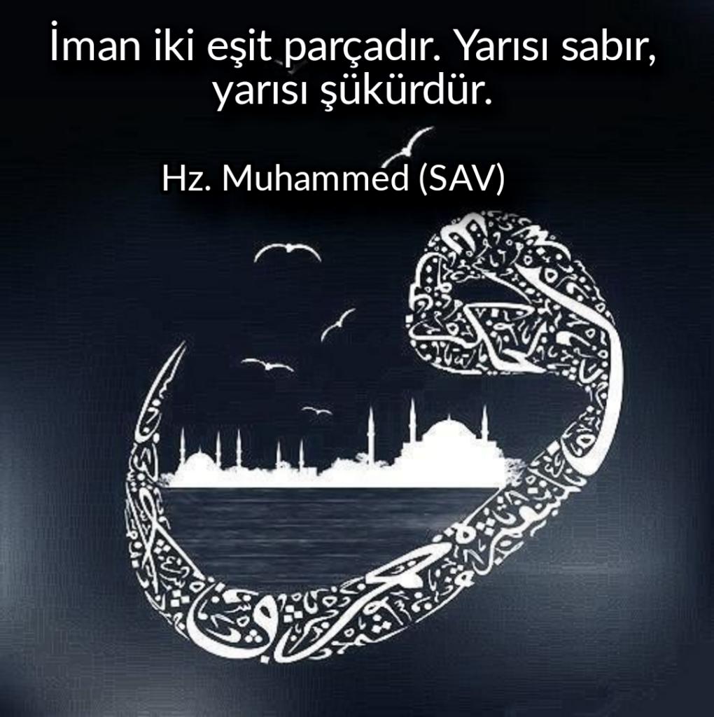 İman iki eşit parçadır. Yarısı sabıryarısı şükürdür 1020x1024 - Resimli Hz Muhammed (SAV) Sözleri - İslam Peygamberi Hz Muhammed Sözleri,Hz Muhammed Hadisleri, mesajlar, dini-sozler