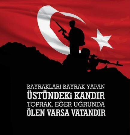 Bayrakları bayrak yapan üstündeki kandır toğrak eğer uğrunda ölen varsa vatandır - Türk Ve Türkiye İle İlgili Resimli Sözler - Türk Ve Türkiye ile ilgili sözler, guzel-sozler