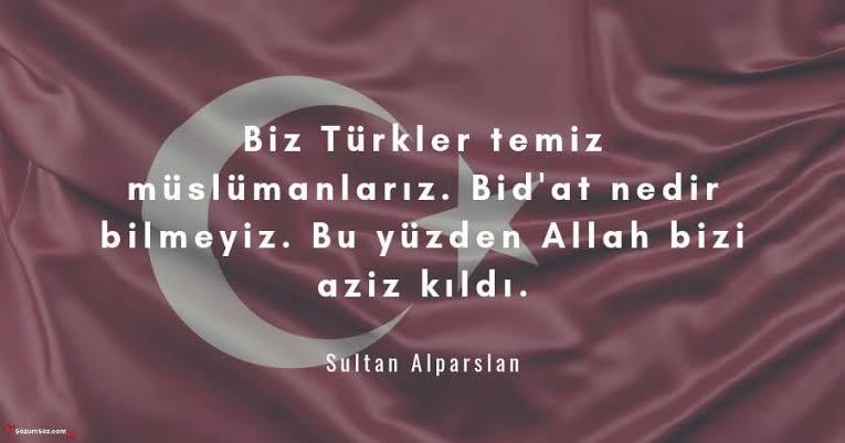 Biz Türkler temiz müslümanlarız. Bidat nedir bilmeyiz. Bu yüzden Allah bizi aziz kıldı - Ülkücü İle İlgili Resimli Sözler - Ülkücü Sözleri, Milliyetçilik, Türk Sözleri, resimli-sozler, populer-sozler, mesajlar, anlamli-sozler
