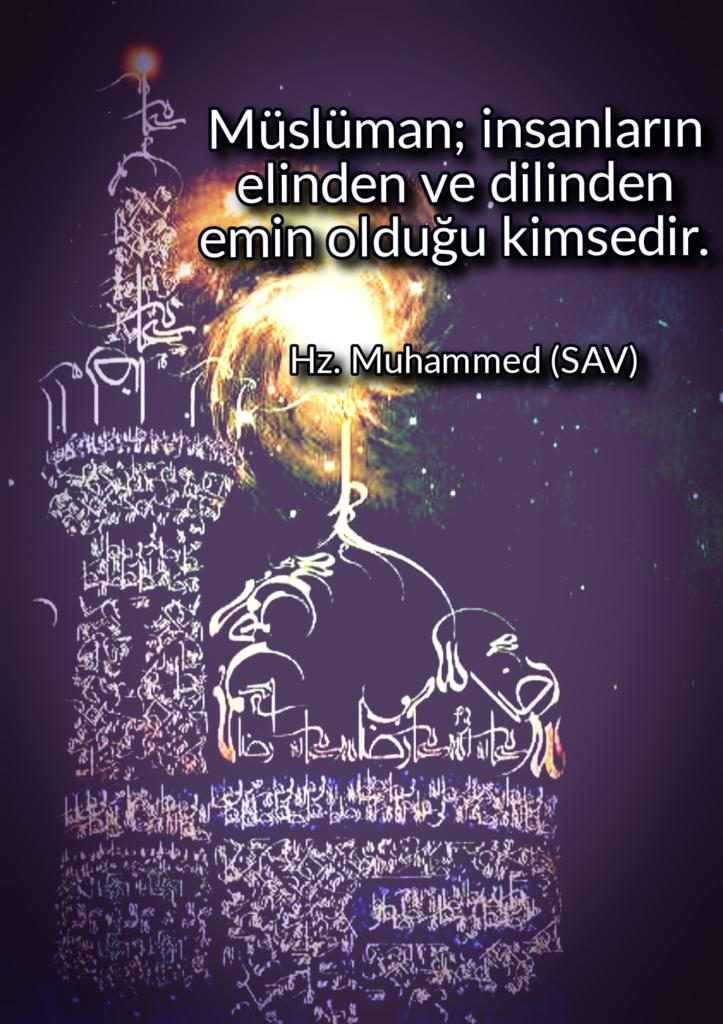 Müslüman insanların elinden ve dilinden emin olduğu kimsedir 723x1024 - Resimli Hz Muhammed (SAV) Sözleri - İslam Peygamberi Hz Muhammed Sözleri,Hz Muhammed Hadisleri, mesajlar, dini-sozler