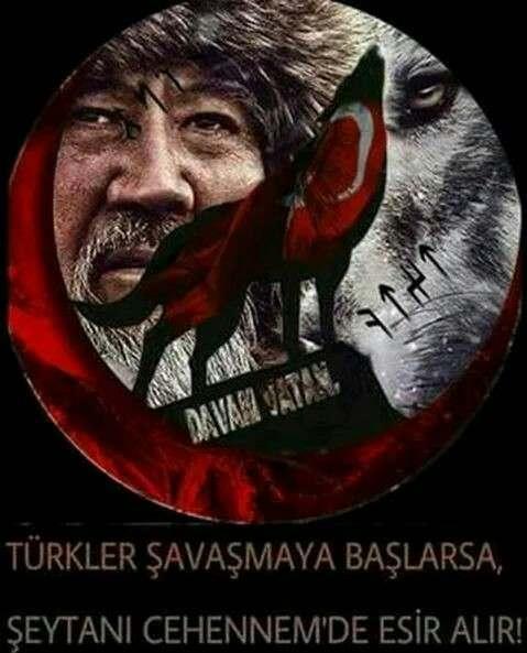Türkler savaşmaya başlarsa şeytanı cehennemde esir alır - Türk Ve Türkiye İle İlgili Resimli Sözler - Türk Ve Türkiye ile ilgili sözler, guzel-sozler