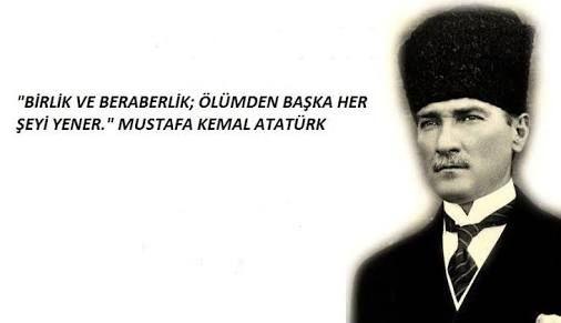 Birlik ve beraberlik ölümden başka herşeyi yener. Mustafa Kemal Atatürk - Mustafa Kemal Atatürk Resimli Sözler - Atatürk Sözleri Ve Fotoğraf Arşivi, unlu-sozleri, guzel-sozler