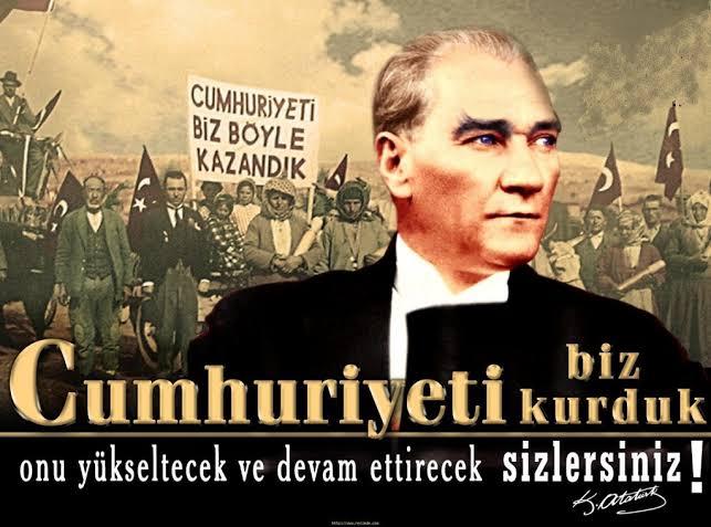 Cumhuriyeti biz kurduk onu yükseltecek ve devam ettirecek sizlersiniz. Mustafa Kemal Atatürk - Mustafa Kemal Atatürk Resimli Sözler - Atatürk Sözleri Ve Fotoğraf Arşivi, unlu-sozleri, guzel-sozler