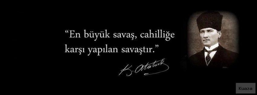 En büyük savaş cahilliğe karşı yapılan savaştır. Mustafa Kemal Atatürk - Mustafa Kemal Atatürk Resimli Sözler - Atatürk Sözleri Ve Fotoğraf Arşivi, unlu-sozleri, guzel-sozler