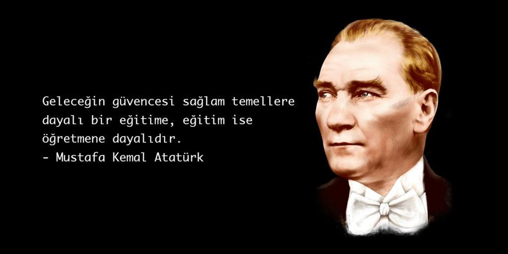 Geleceğin güvencesi sağlam temellere dayalı bir eğitime eğitim ise öğretmene dayalıdır. Mustafa Kemal Atatürk 1024x512 - Mustafa Kemal Atatürk Resimli Sözler - Atatürk Sözleri Ve Fotoğraf Arşivi, unlu-sozleri, guzel-sozler