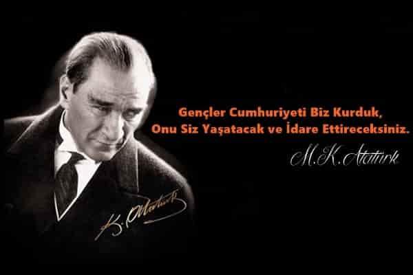 Gençler Cumhuriyeti biz kurduk onu siz yaşatacak ve idare ettireceksiniz. Mustafa Kemal Atatürk - Mustafa Kemal Atatürk Resimli Sözler - Atatürk Sözleri Ve Fotoğraf Arşivi, unlu-sozleri, guzel-sozler