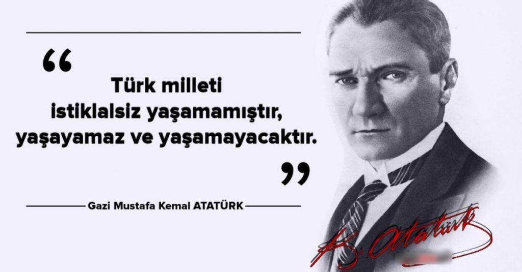 Türk milleti istiklalsiz yaşamamıştıriyaşayamaz ve yaşamayacaktır. Mustafa Kemal Atatürk 1024x535 - Mustafa Kemal Atatürk Resimli Sözler - Atatürk Sözleri Ve Fotoğraf Arşivi, unlu-sozleri, guzel-sozler