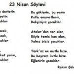 23 Nisan Şiirleri, 23 Nisan Çocuk Bayramı Resimli Şiirler  3