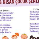 23 Nisan Şiirleri, 23 Nisan Çocuk Bayramı Resimli Şiirler  8