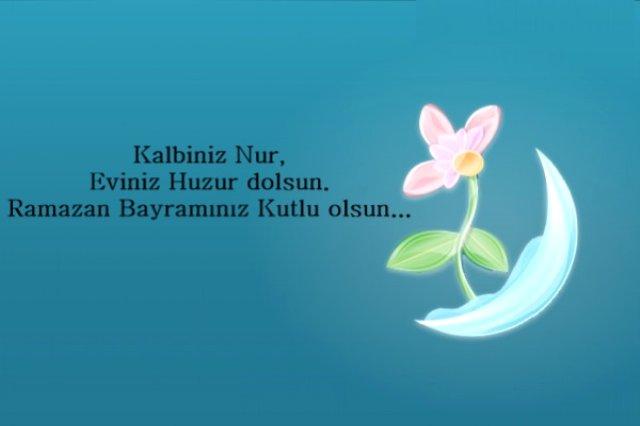 Kalbiniz Nur eviniz huzur dolsun. Ramazan Bayramınız Kutlu Olsun - Ramazan Bayramı İle İlgili Resimli Kutlama Mesajları Ve Sözleri, resimli-sozler