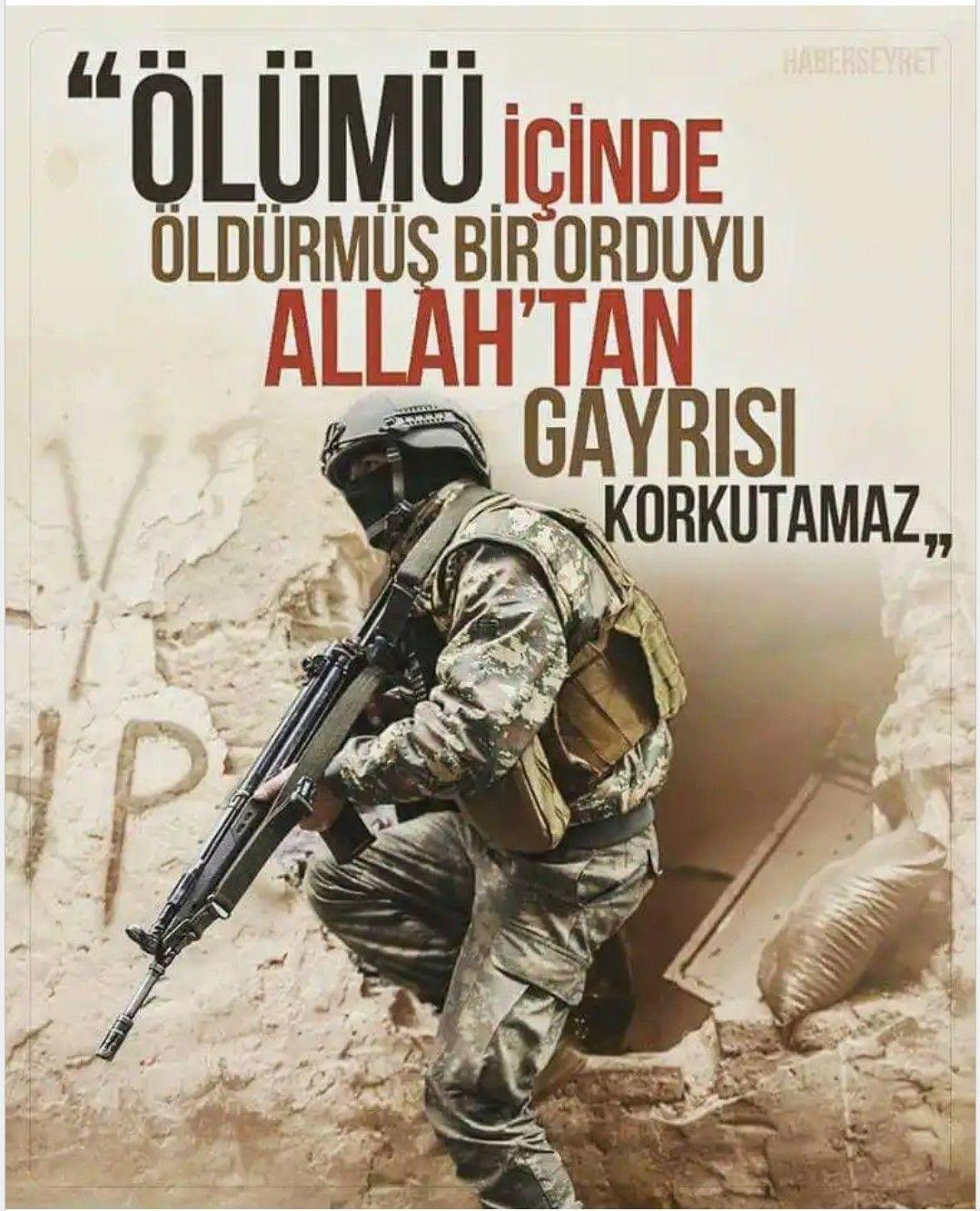 Ölümü içinde öldürmüş bir orduyu Allahtan gayrısı korkutamaz.. Türk Ordusu İle İlgili Resimli Sözler - Türk Ordusu İle İlgili Resimli Sözler - Türk Ordusu İle İlgili Sözler, resimli-sozler